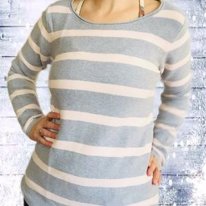 Minimum Grey/Pink Striped Long Sleeve Sweater M